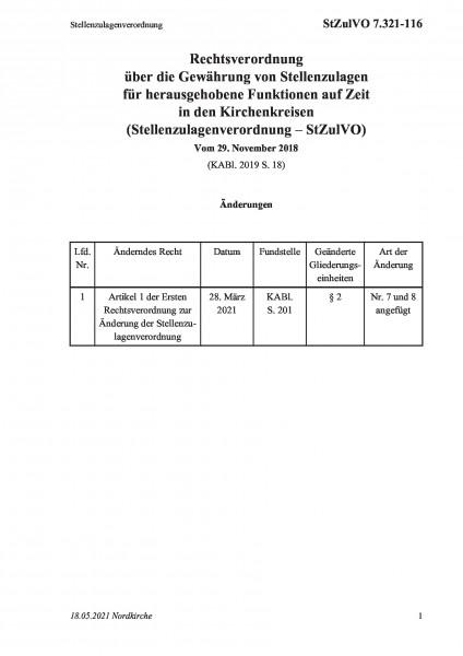 7.321-116 Stellenzulagenverordnung