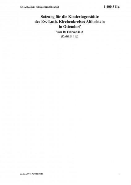 1.400-511a KK Altholstein Satzung Kita Ottendorf