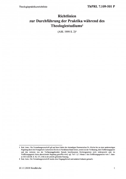 7.109-501 P Theologiepraktikumrichtlinie