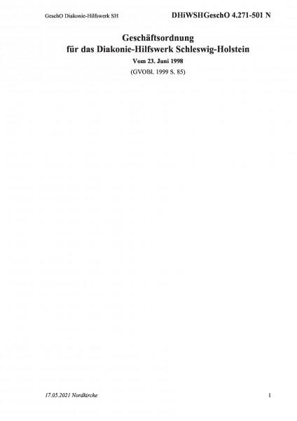 4.271-501 N GeschO Diakonie-Hilfswerk SH