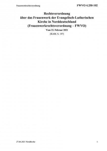 4.250-102 Frauenwerkrechtsverordnung
