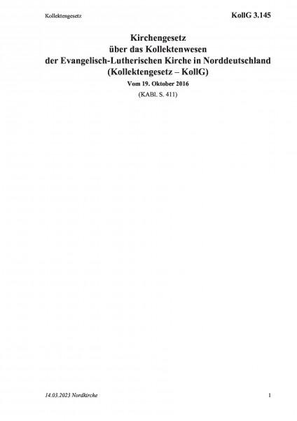 3.145 Kollektengesetz