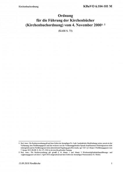 6.104-101 M Kirchenbuchordnung