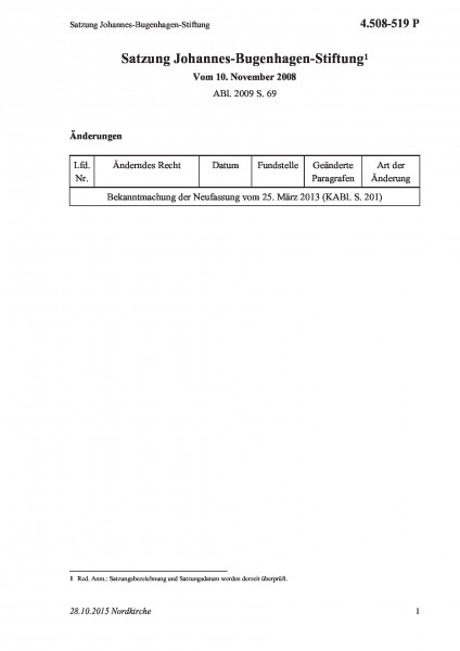 4.508-519 P Satzung Johannes-Bugenhagen-Stiftung