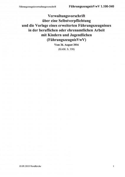 1.100-540 Führungszeugnisverwaltungsvorschrift