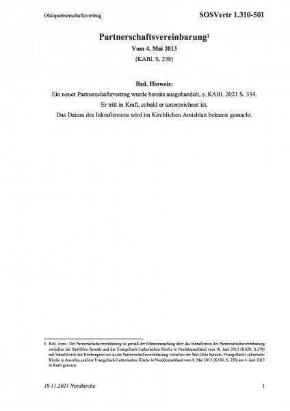 1.310-501 Ohiopartnerschaftsvertrag