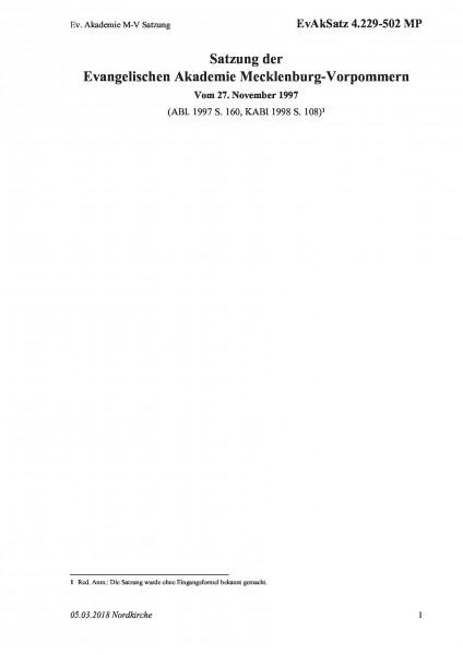4.229-502 MP Ev. Akademie M-V Satzung