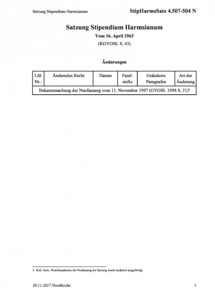 4.507-504 N Satzung Stipendium Harmsianum