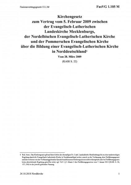 1.105 M Fusionsvertragsgesetz ELLM