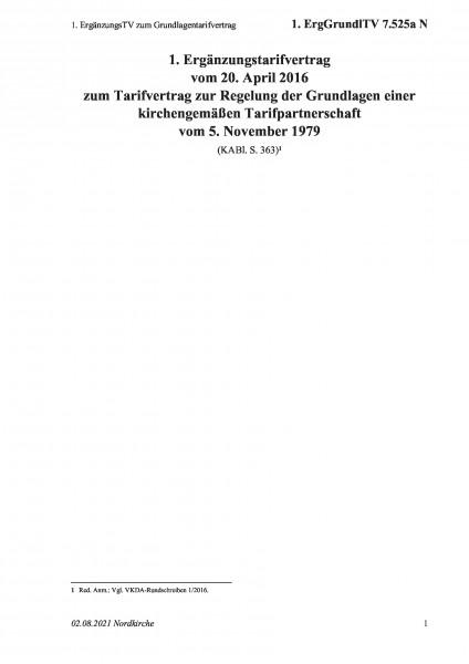 7.525a N 1. ErgänzungsTV zum Grundlagentarifvertrag