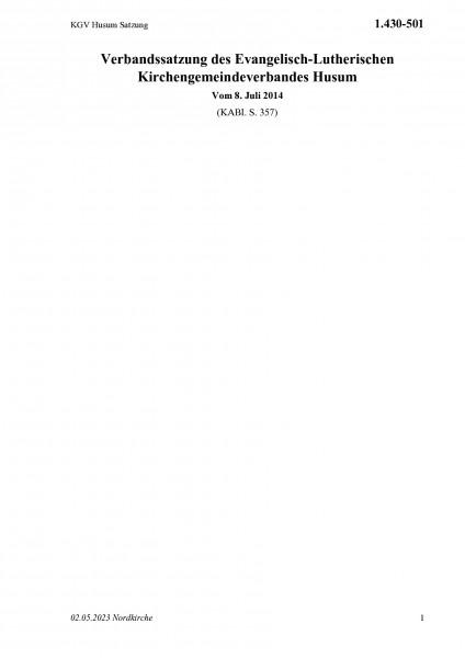 1.430-501 KGV Husum Satzung