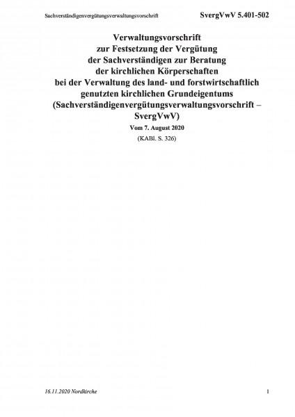 5.401-502 Sachverständigenvergütungsverwaltungsvorschrift