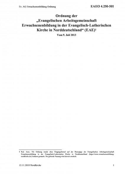 4.250-501 Ev. AG Erwachsenenbildung Ordnung