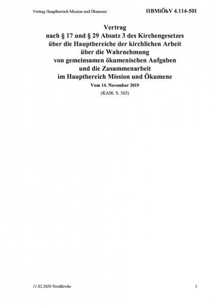 4.114-501 Vertrag Hauptbereich Mission und Ökumene
