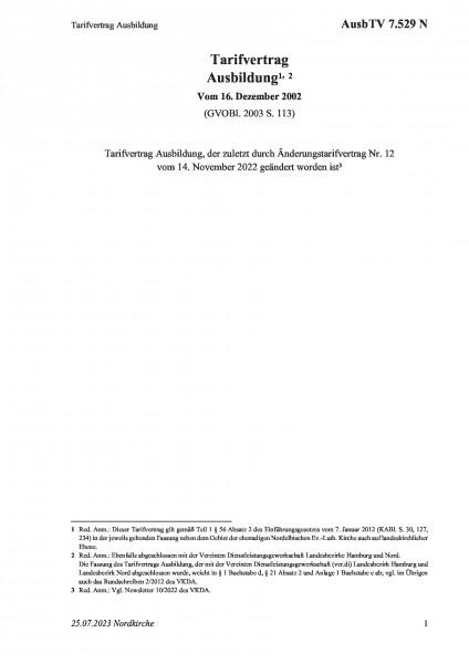 7.529 N Tarifvertrag Ausbildung