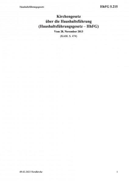 5.215 Haushaltsführungsgesetz
