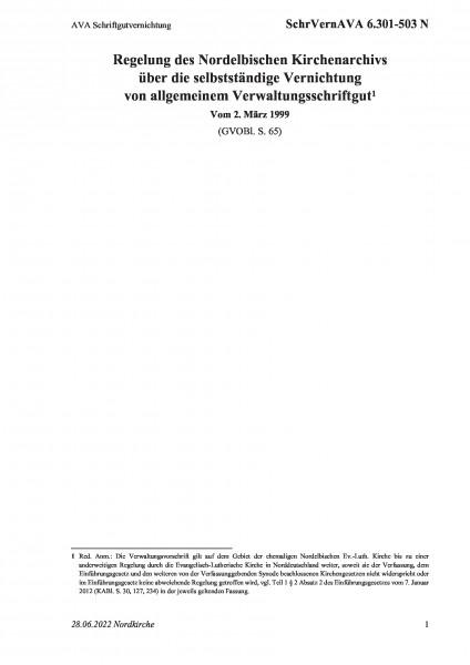 6.301-503 N AVA Schriftgutvernichtung