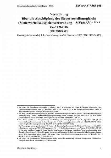 7.365-101 Steuervorteilsausgleichsverordnung – UEK