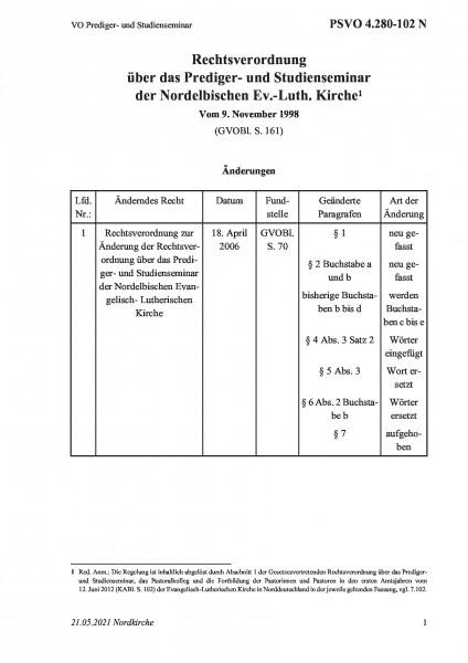 4.280-102 N VO Prediger- und Studienseminar