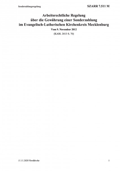 7.511 M Sonderzahlungsregelung