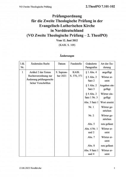 7.101-102 VO Zweite Theologische Prüfung