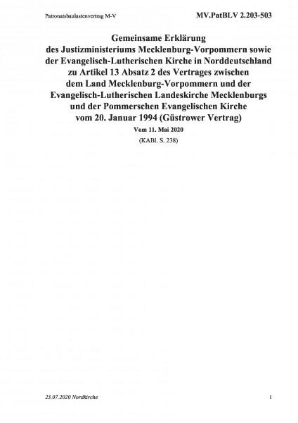 2.203-503 Patronatsbaulastenvertrag M-V