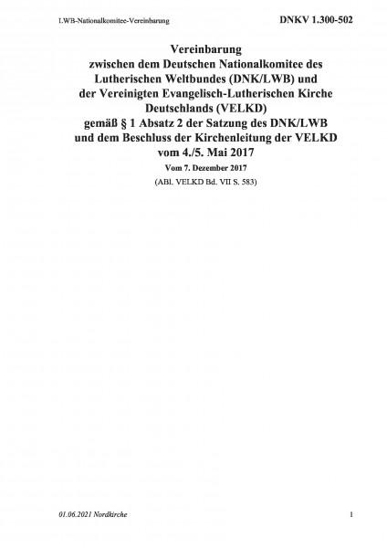 1.300-502 LWB-Nationalkomitee-Vereinbarung
