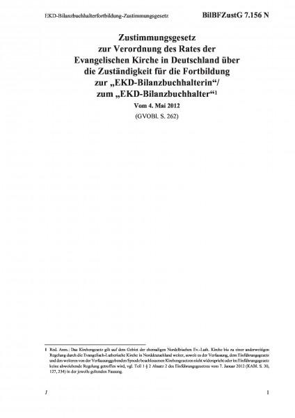 7.156 N EKD-Bilanzbuchhalterfortbildung-Zustimmungsgesetz