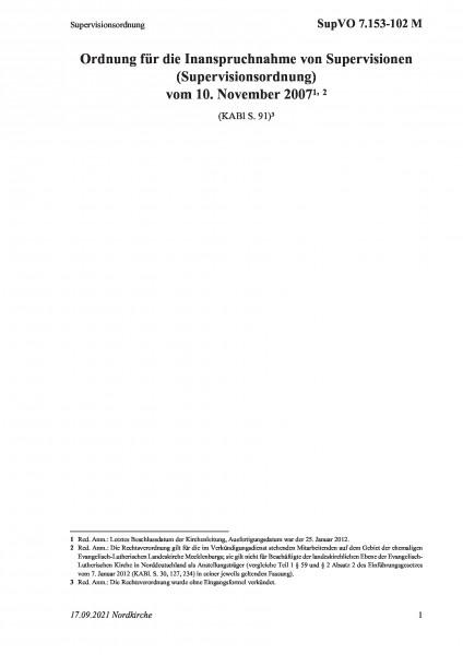 7.153-102 M Supervisionsordnung