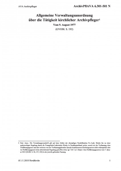 6.301-501 N AVA Archivpfleger