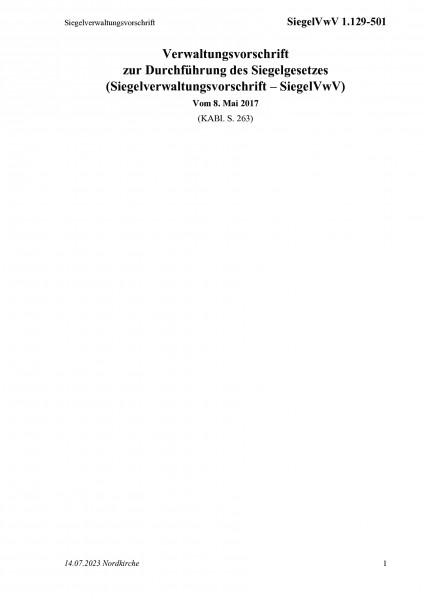 1.129-501 Siegelverwaltungsvorschrift