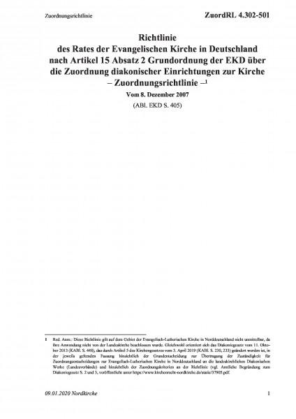 4.302-501 Zuordnungsrichtlinie