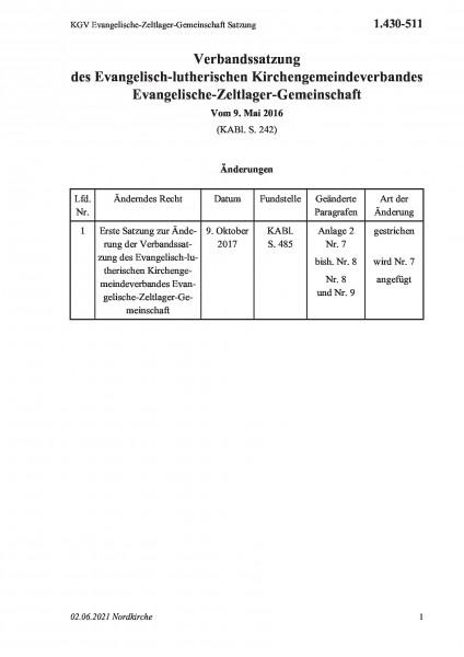 1.430-511 KGV Evangelische-Zeltlager-Gemeinschaft Satzung