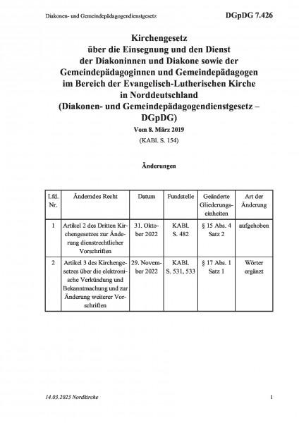 7.426 Diakonen- und Gemeindepädagogendienstgesetz