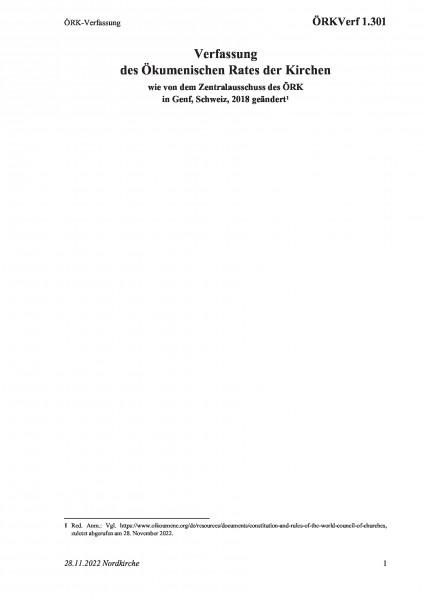 1.301 ÖRK-Verfassung