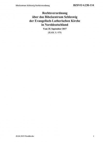 4.230-114 Bibelzentrum Schleswig Rechtsverordnung