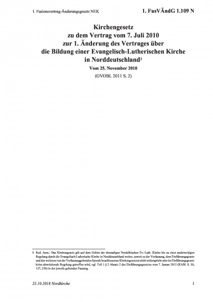 1.109 N 1. Fusionsvertrag-Änderungsgesetz NEK