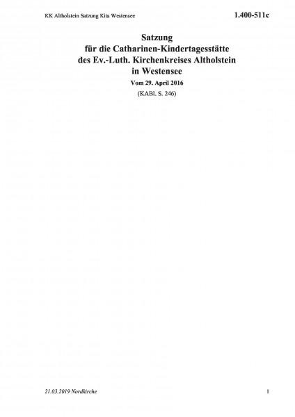 1.400-511c KK Altholstein Satzung Kita Westensee