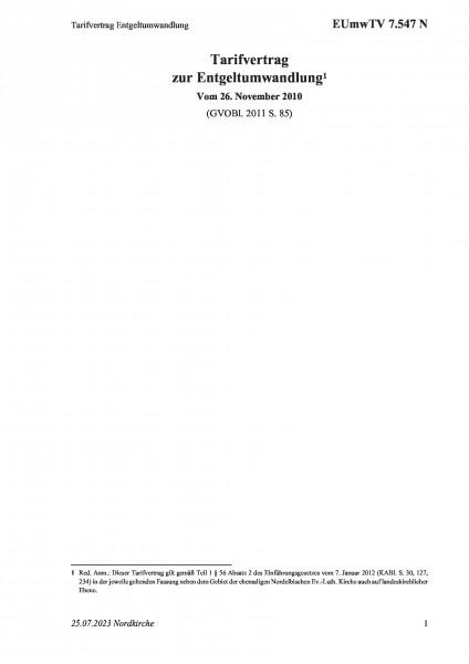 7.547 N Tarifvertrag Entgeltumwandlung