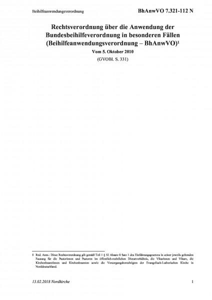 7.321-112 N Beihilfeanwendungsverordnung
