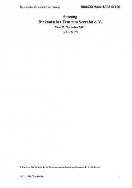 4.303-511 M Diakonisches Zentrum Serrahn Satzung