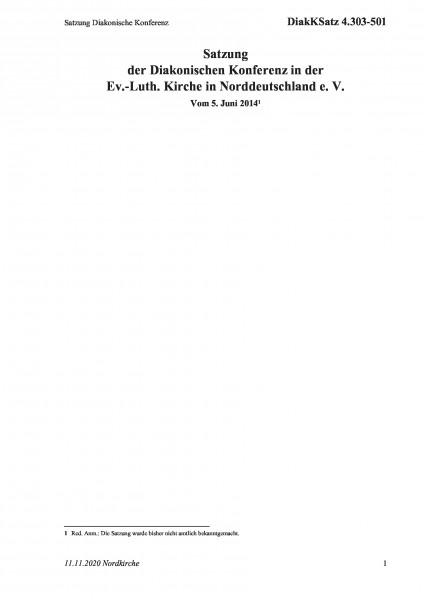 4.303-501 Satzung Diakonische Konferenz