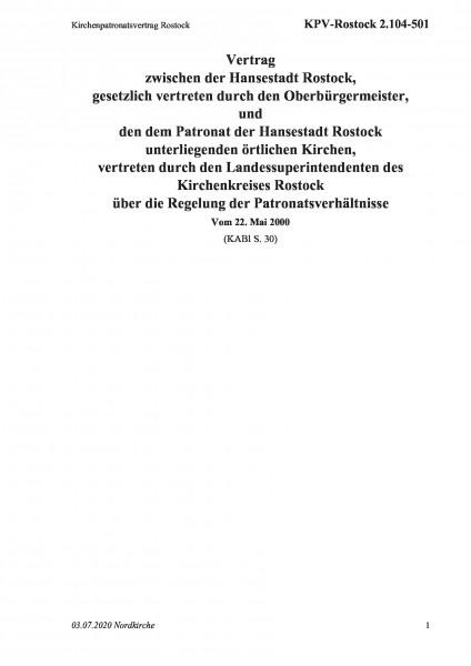 2.104-501 Kirchenpatronatsvertrag Rostock