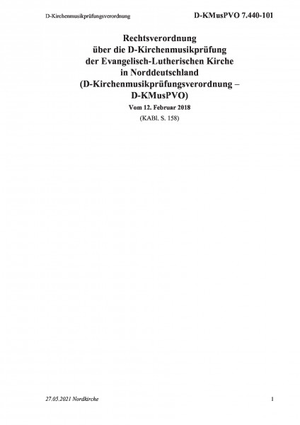 7.440-101 D-Kirchenmusikprüfungsverordnung