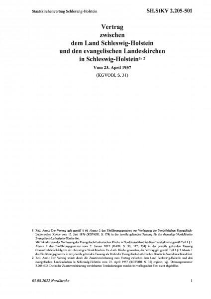 2.205-501 Staatskirchenvertrag Schleswig-Holstein