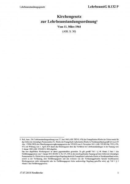 8.132 P Lehrbeanstandungsgesetz