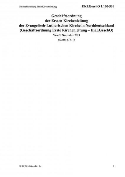 1.100-501 Geschäftsordnung Erste Kirchenleitung