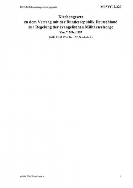 2.220 EKD-Militärseelsorgevertragsgesetz