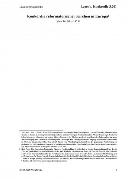 3.201 Leuenberger Konkordie