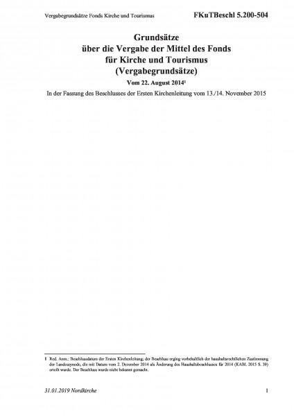 5.200-504 Vergabegrundsätze Fonds Kirche und Tourismus